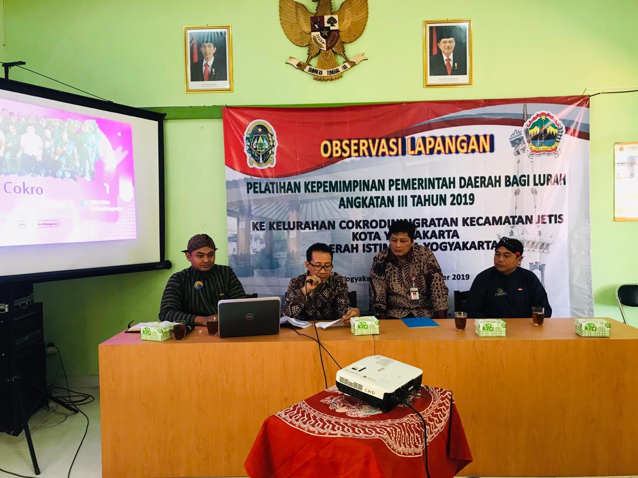 Benchmarking, Latpim Lurah se-Jawa Tengah di Kelurahan Cokrodiningratan