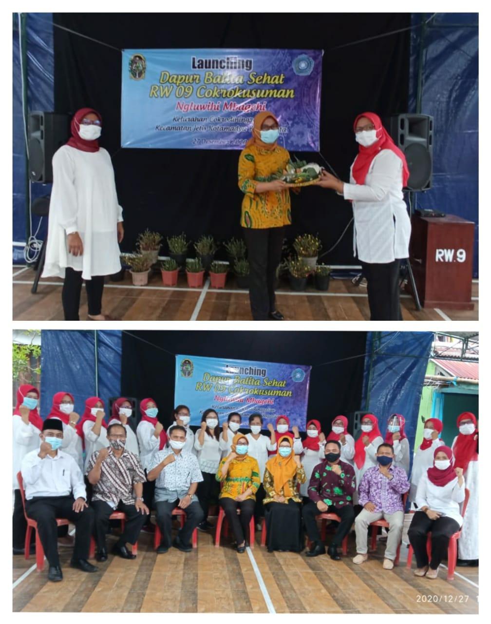 Launching Dapur Balita Ngluwihi Mbagei RW 09 Kampung Cokrokusuman