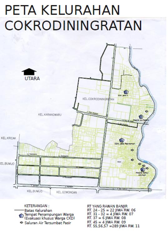 Peta Kelurahan Cokrodiningratan